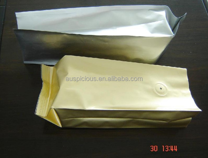 with degassing valve foil coffee bags with valve