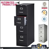 Kuala Lumpur modern office furniture 4 drawer steel filing cabinet with anti-tilt feature