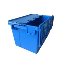 Heavy duty 600*400*355mm plastic turnover storage crate with lid