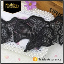 2016 fashion embroidery lace table edging trim,indian saree border lace trim,polyester chemical lace NLC-092