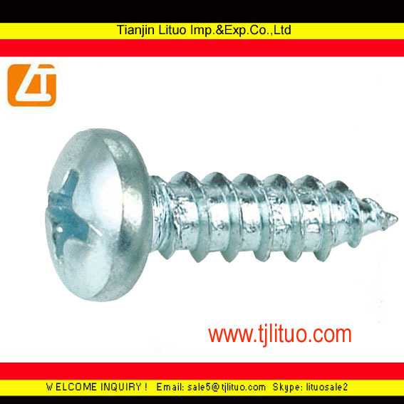 black anodized pan head self tapping screw