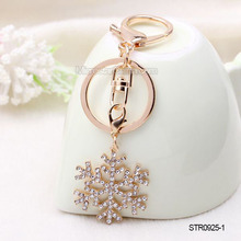 Personalized Handmade Crystal Snowflake Key Chain