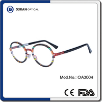 Classic Design New Model Eyewear Frame Glasses With Spring Acetate Temple
