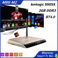 M9X II Full Hd 4K Amlogoc S905X Quad Core TV Stream TV Box Google Movie Game 2gb/1gb XbMC Kodi IPTV Android Smart TV Box Gold