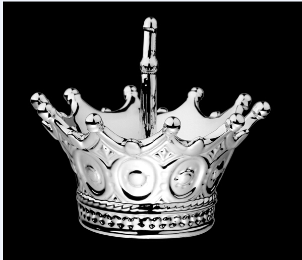 Direct Ceramic Delicate Silver Crown Ring Holder