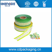 Plastic roll stock twist film for chocolate and candy packaging