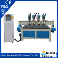 cnc wood lathe four head cnc wood carving machine for furniture doors windows