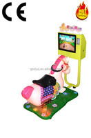 Great Quality GOLDEN HORSE Coin Operated Swinging kiddie ride with 2D game inside for Sales Pass CE certificate