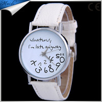 Popular Hot Sell What Ever Fashion Leather Watch For Ladies Women Dress Wrist Watches Wholesale LW047