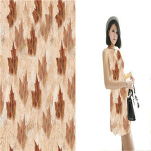 China Manufacturer Printed Bamboo Polyester Fabric For Garment