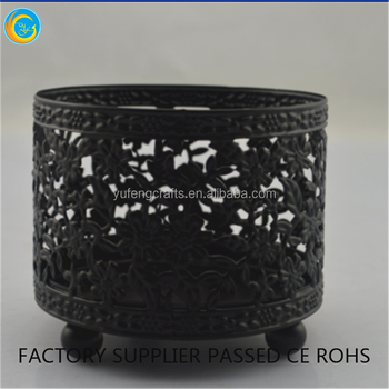 mini candle jar black metal candlestick holders