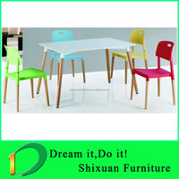 modern new designed MDF beech wood dining table and chair