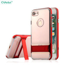 Crystal Kickstand TPU Mobile back cover for htc one mini m4 back cover