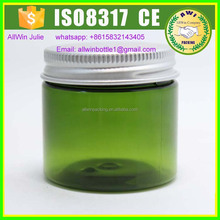 AllWin round green 250g plastic jar with sliver lid