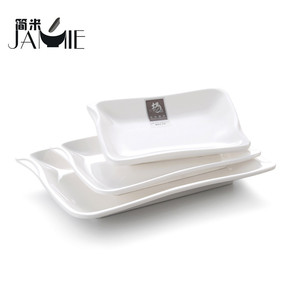 Custom logo 100% melamine cheap wholesale square custom color plastic plates