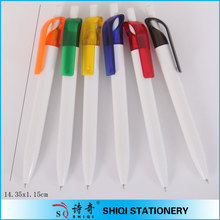 cheap free sample elegant design white barrel promotional ballpen