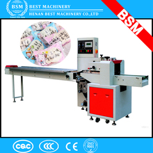 India lowest price biscuit sliced bread candy pillow packing machine