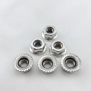 DIN6923 zinc plated wheel nuts for trucks hex serrated flange nut