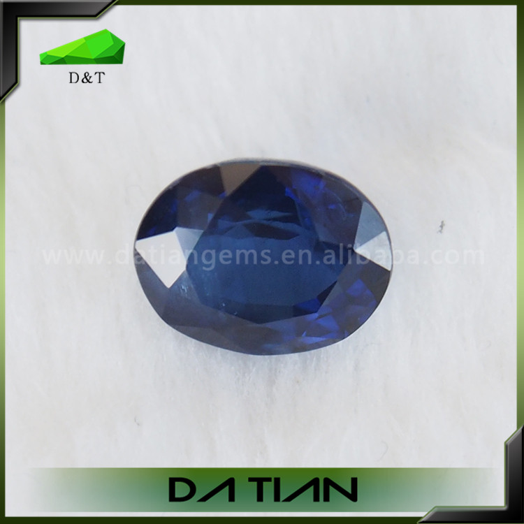 Hot sale best quality natural oval diamond cut blue sapphire gemstones