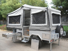 stove cover and cutting board teardrop caravan 4x4 off road hard floor camper trailer