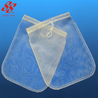 food grade 100 200 micron nylon mesh nut milk filter bag, filter strainer for coffee, almond