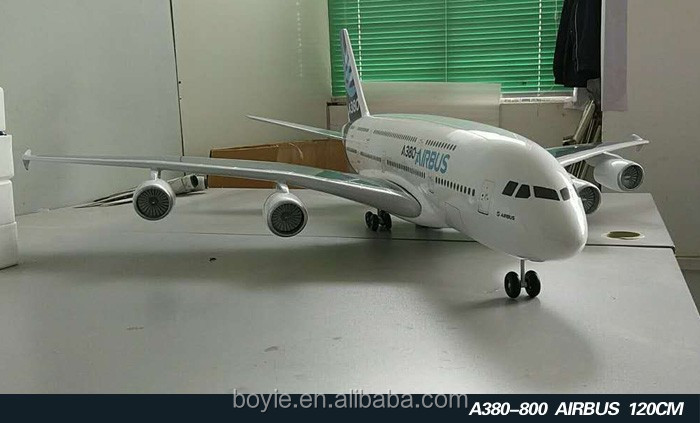 Movable 200CM Resin Big home decoratived a380 plane models with wheel without electricity with stand