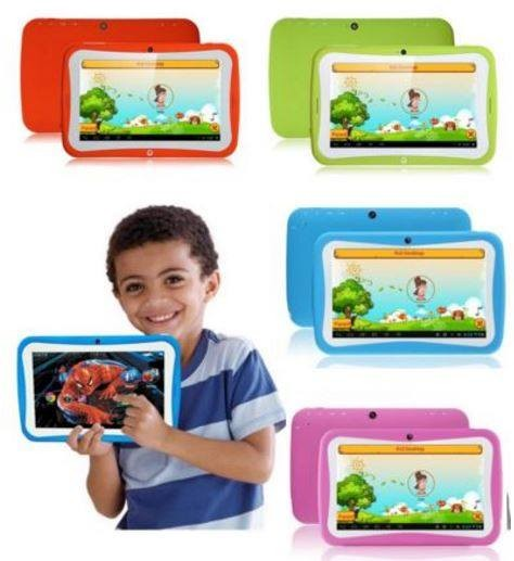 "7"" Rockchip RK3126 quad core Touch Screen tablet pc Android 4.4 kids eductaion smart pad built-in learning software stock market"