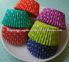 China Polka Dot Party Cupcake Cases Greaseproof paper baking cups cupcake liners muffin cases cake mould