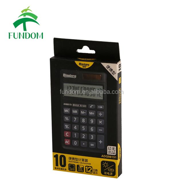 zhejiang China box factory custom logo print cheap gloss lamination recycle hook header paper calculator packing box with hanger