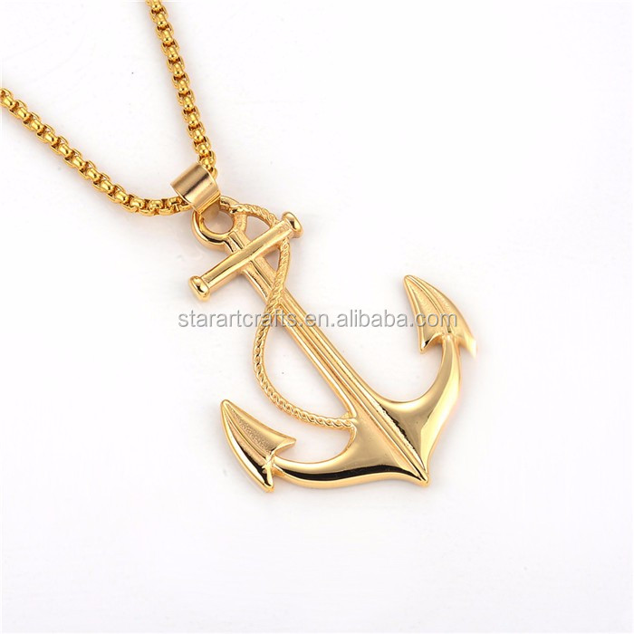 Fashion gold pendant designs men with 18K Gold Plated
