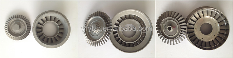 superalloy investment casting turbine wheel used for aviation turbojet engine parts