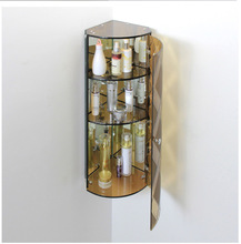 2014 glass wall mounted living room cabinet