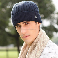 In Stock wool acrylic Knitted winter beanie ski hat for men