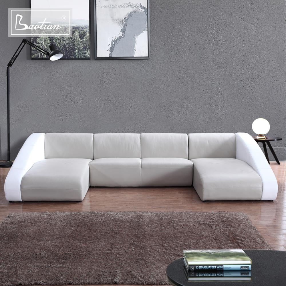 Living Room New Designs Furniture U Shape Top Grain Corner Leather Sofa Set  7 Seater Or Fabric Home Furniture - Buy Leather Sofas And Home ...