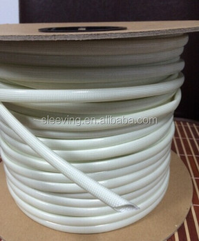 Glass fibre braided sleeving with polyurethane varnish