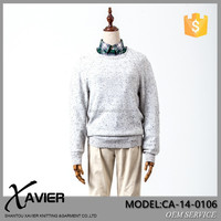 CA-14-0106Retro design crochet knitting striped pullover fabric sweater for man jacquard knitted sweater men