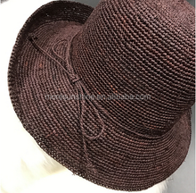 Wholesale best quality hats manufacturer paper fashion women's raffia straw bucket hat