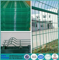 Highway Reinforced PVC Coated 1x1 Wire Mesh Fencing