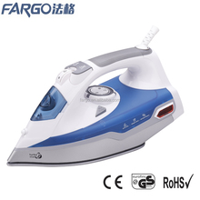 manufactory hot selling big water tank ceramic soleplate steam electric iron
