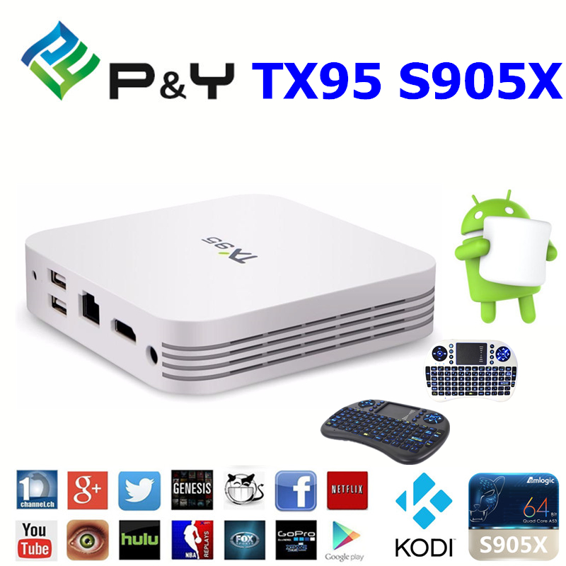 2016 New design TX95 S905X 2G 16G set top box digital tv cable receiver ott tv box KODI 17.0 TV BOX