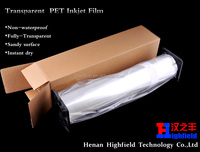 Inkjet Mylar Polyester Film 100 Microns For Screen Printing