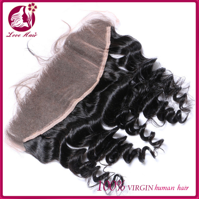 Peruvian Virgin Hair Loose Wave Curly Top Ear to Ear Lace Frontal. 13X4 Virgin Peruvian Wavy Hair Closure