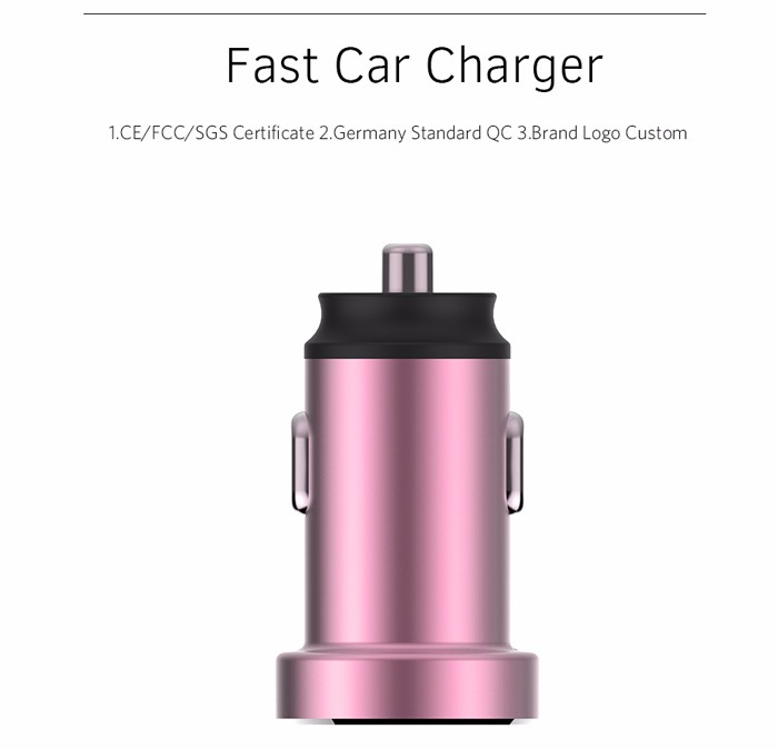 QC 3.0 Type-C Dual Usb Car Charger, Dual Port Car Charger Usb, Car Charger Dual USB