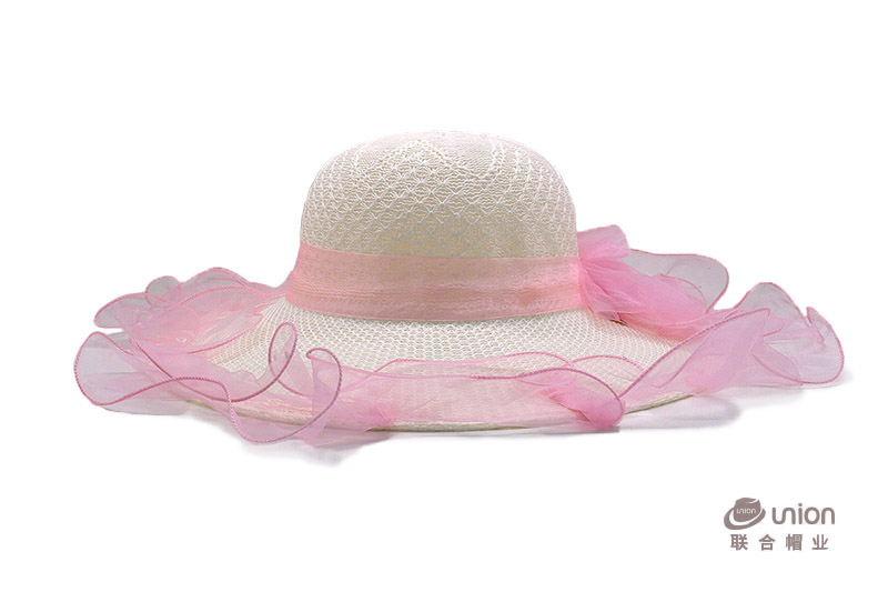 2017 High quality wide brim colorful paper summer woman floppy wholesale straw hats china