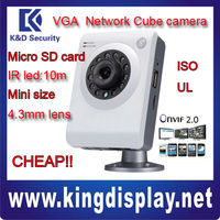 NETWORK CUBE SURVEILLANCE DAHUA IPC-A6-I IR VGA CAMERA JPEG image capture and H.264 video compression 25/30fps@ VGA/CIF/QV POE