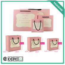 Pink BLue Gloss Laminated Paper Bags For Shopping, Shoping Paper Bags With Logo
