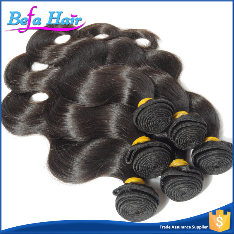 2016 Wholesale Natural Black Malaysian Body Wave Human Hair Weaving