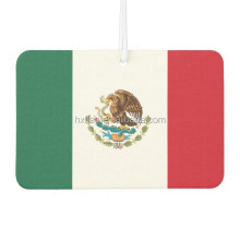 Wholesale Mexico Flag Car Air Freshener Custom Paper air freshener