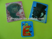 High quality soft pvc/paper fridge magnet animal shape