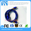 Gold-plated blue braid jacket 1.4v HDMI Cable